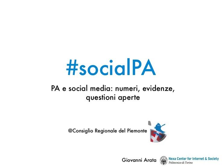 La presentazione di #socialPA a#pa140
