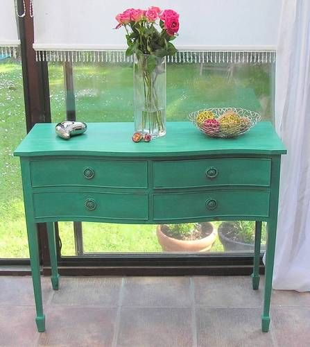 BEAUTIFUL 'SERPENTINE' SIDEBOARD HAND PAINTED SHABY CHIC IN ANNIE SLOAN | eBay