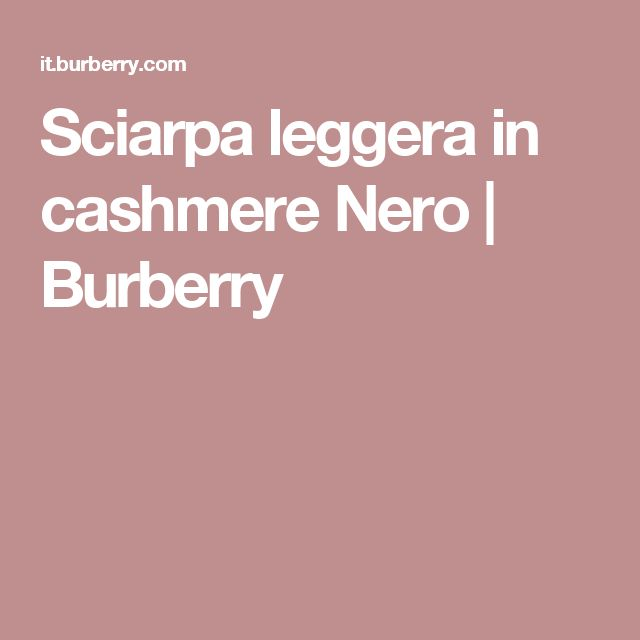 Sciarpa leggera in cashmere Nero | Burberry