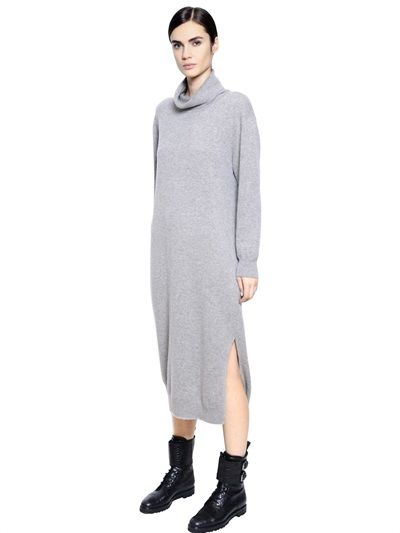 MAX MARA - CASHMERE TURTLENECK SWEATER DRESS - LUISAVIAROMA - LUXURY SHOPPING WORLDWIDE SHIPPING - FLORENCE: