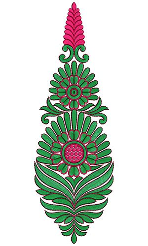 9248 Anarkali Embroidery Design