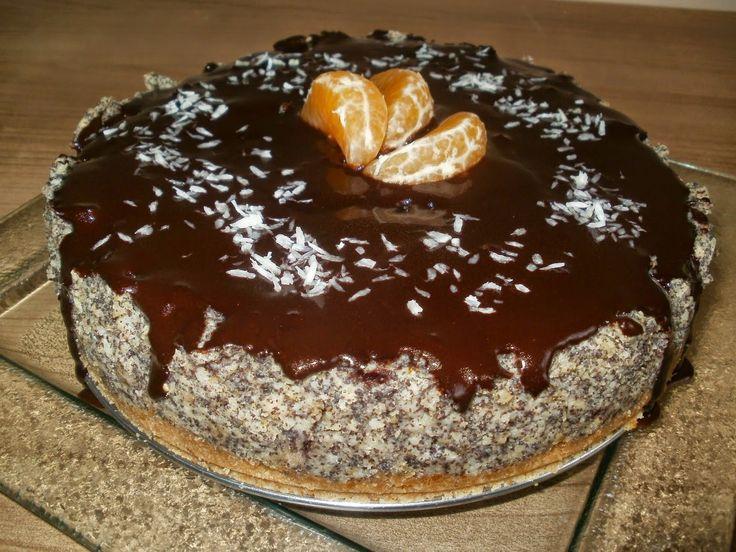 Wege Kuchnia: Jaglany tort makowy z żurawiną (wegański)