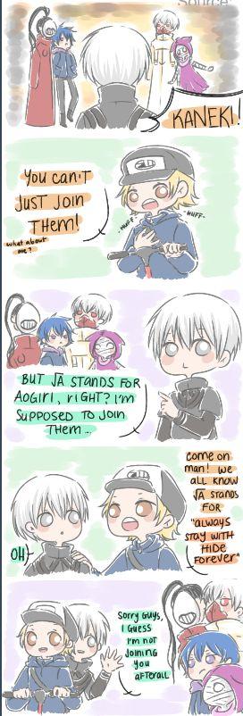 How Tokyo Ghoul √A Should Have Happened     Kaneki, Hide, and Aogiri     Tokyo Ghoul Fan Art