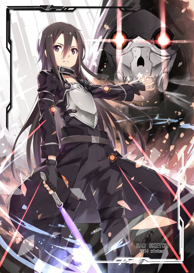 Kirito: Sword Art Online II. Good fanart but I'm still wondering- WHY WAS KIRITO A GIRL IN THE 1ST PLACE?!