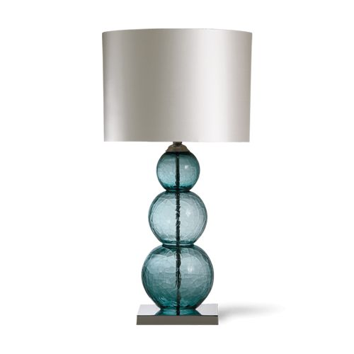 Porta Romana - GLB02L, Pasteur Lamp, Large - Ash Blue with Nickel base