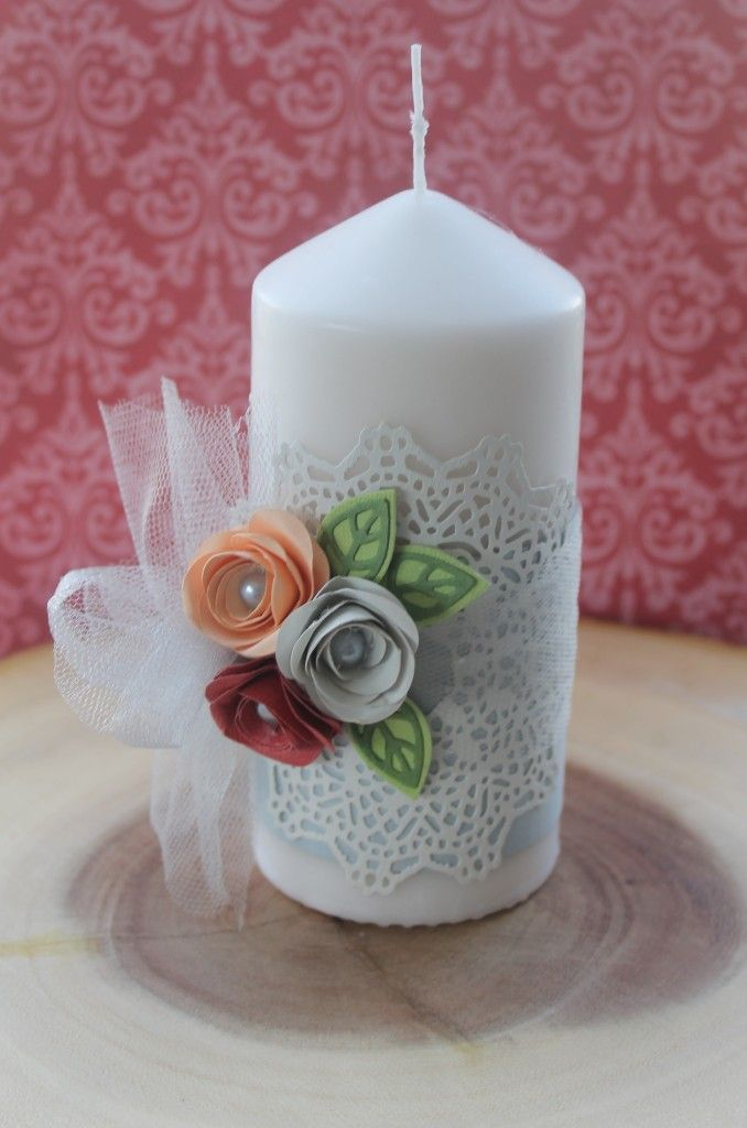 Home Decor - Decorated Candle