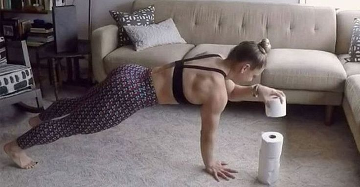 Tone your entire body with this intense at-home workout routine using toilet paper.