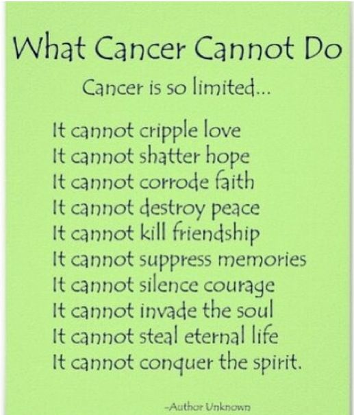 What Cancer Cannot Do - - Create an Email with Pinkmail.org and let's build Breast Cancer Awareness! It's time we stopped living with cancer, and starting kicking its butt! Pinkmail.org donates toward Breast Cancer Awareness and saves lives with every email sent! Tell your friends and family!