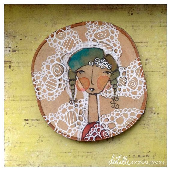 birchGIRL no. 2. circled in light and by DanielleDonaldsonArt, $25.00