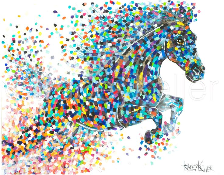 Freedom Horse painting tracey keller