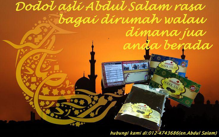 Jangan biarkan jarak menjadi penghalang untuk anda menikmati DODOL asli Abdul Salam di bulan yang mulia ini. Dengan DODOL Abdul Salam, mereka yang berada di luar malaysia tidak usah bersedih kerana DODOL Abdul Salam dengan pek yang dijamin selamat dapat di bawa pulang ke mana pun anda berada! Hubungi kami di talian: 012-4743686