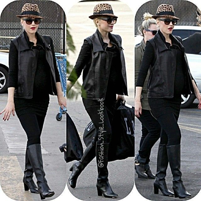 #gwenstefani #black #pregnant #boots #fashionicon #ny #socialite #style #fashion #instastyle #instafashion #beautiful #givenchy #gold #glitter #chanel #silver #handbag #accessories #inspiration #hermes #hermesbirkin #celine #celinebag #styleicon #perfection #celebrity #streetstyle #hipster #boots... - Celebrity Fashion