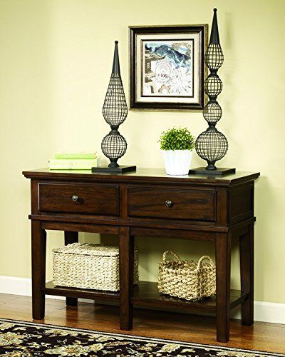 "With the warm rustic brown finish flowing smoothly over the profiled edges and frame details, the ""Gately"" accent table collection offers the function of a lift-top cocktail table along with the hidden power strip and additional storage within the end table to create an exceptional accent to any ... more details available at https://furniture.bestselleroutlets.com/accent-furniture/sofa-console-tables/product-review-for-ashley-furniture-signature-design-gately-sofa-console"