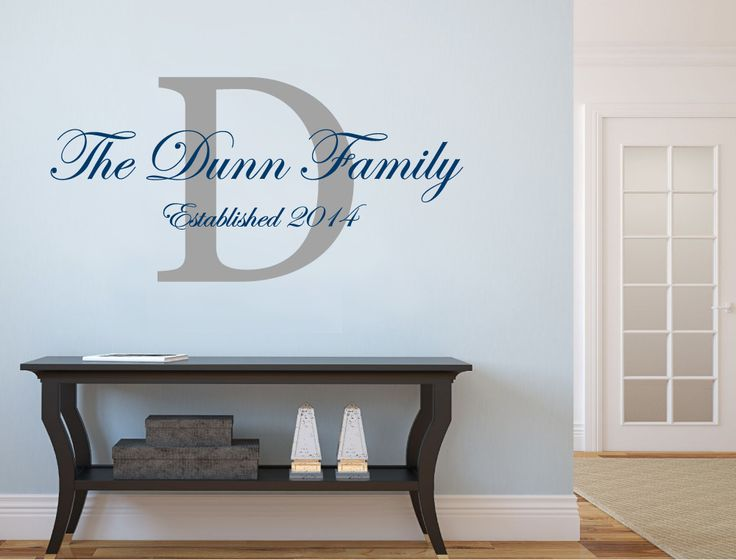 Personalised name wall sticker | Family wall decal