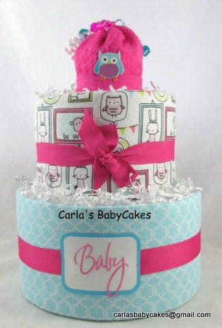 25 Pink diaper cakes Pinterest