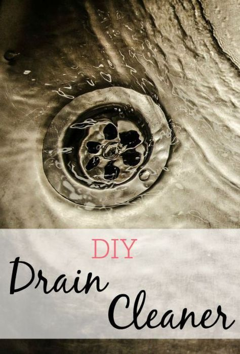 Have a slow drain? Skip the drano and try this DIY drain cleaner. It's chemical free and so easy to do.