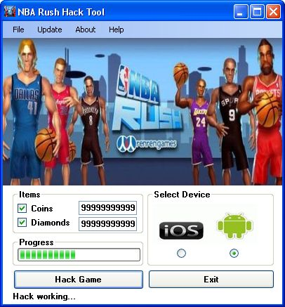 NBA Rush Hack Tool ~ 23 gp king