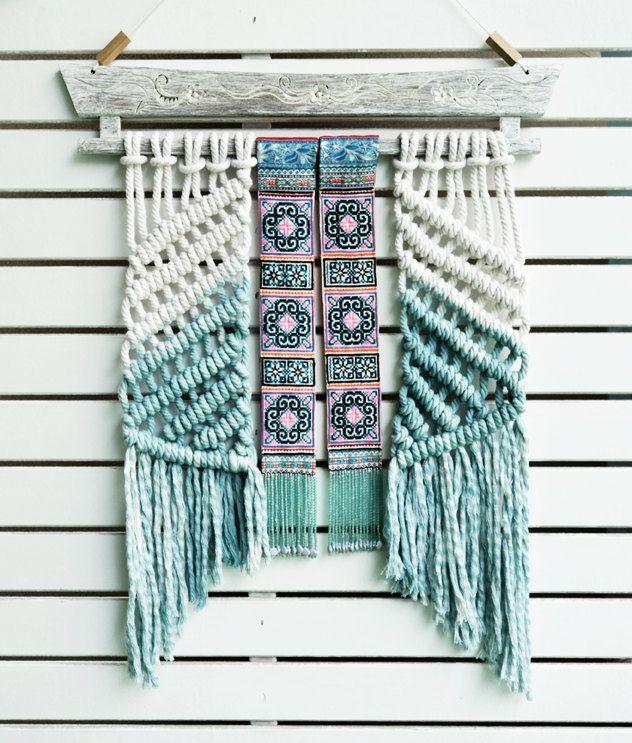 Modern macrame wall hanging macrame weaving tapestry