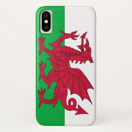 Patriotic Iphone X Case with Wales Flag - stylish gifts unique cool diy customize