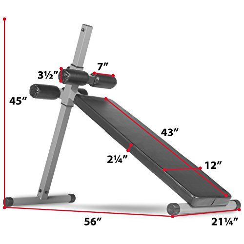 XMark Fitness 10 Position Adjustable Sit-up Ab Bench, 350 lb. Capacity, Ergonomically Positioned Vinyl Covered Roller Pads, Affordably Priced, Experience the Difference with XMark XM-4360   http://adjustabledumbbell.info/product/xmark-fitness-10-position-adjustable-sit-up-ab-bench-350-lb-capacity-ergonomically-positioned-vinyl-covered-roller-pads-affordably-priced-experience-the-difference-with-xmark-xm-4360/