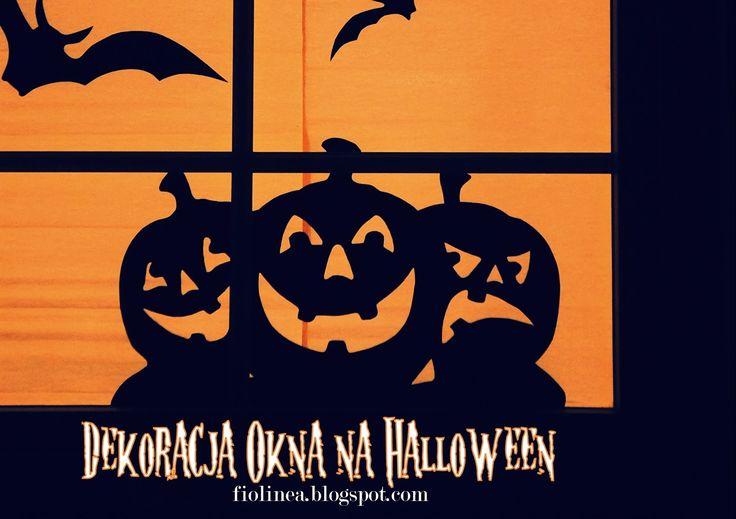 Fiolinea - Ślubna Galanteria Papiernicza: Zrób to sam: Dekoracja okna na Halloween