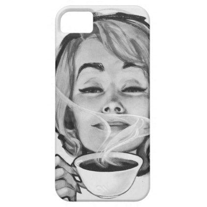 Savour the moment vintage phone case - black and white gifts unique special b&w style