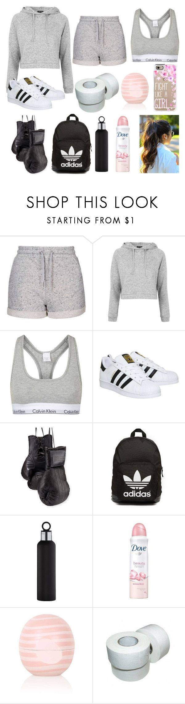 """Boxing"" by iamthequeenofwonderland ❤ liked on Polyvore featuring Topshop, adidas, Elisabeth Weinstock, adidas Originals, blomus, Dove, Casetify, outfit and Boxing"