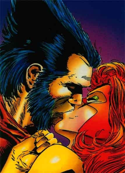 Wolverine and Jean Grey: I started- and never finished- a painting of this frame way back when.