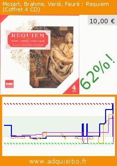 Mozart, Brahms, Verdi, Fauré : Requiem (Coffret 4 CD) (CD). Réduction de 62%! Prix actuel 10,00 €, l'ancien prix était de 26,56 €. https://www.adquisitio.fr/emi-classics-france/mozart-brahms-verdi-faur%C3%A9