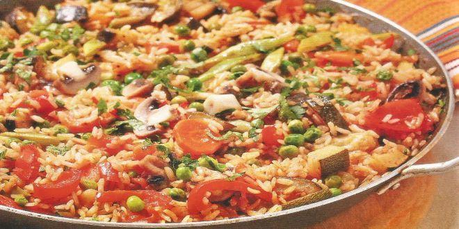 Arroz Integral con Verduras, una Receta facil, deliciosa e ideal para una dieta equilibrada.