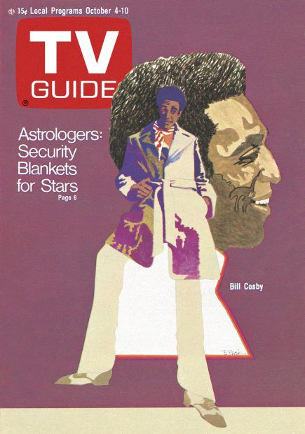 TV Guide, ft. Bill Cosby Oct. 4-10, 1969 Bob Peak illustration