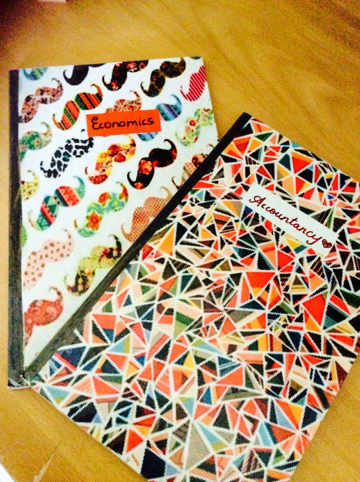 Customised notebooks which i made Back to school