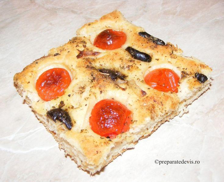 Pizza de post cu rosii cherry