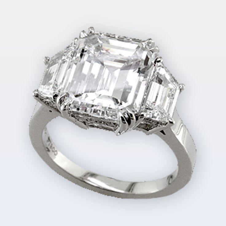 3 Stone Emerald Diamond Ring – Peter Norman Jewelers