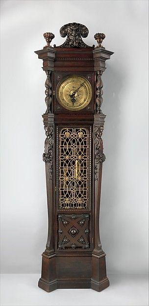 """George A. Schastey & Co. (1873–97). Tall case clock from the William Clark House, Newark, New Jersey, ca. 1882. The Metropolitan Museum of Art, New York. Collection of Brian A. Emery 