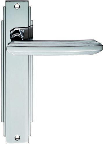 Carlisle Brass 'Art Deco' Style Door Handles, Polished Chrome - ADR011CP (sold in pairs) None