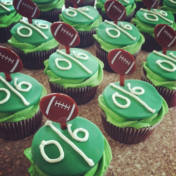 this is for Little boy football birthday party, too cute! but could work for engagement party :) @Jamie Lynne and @Alisha Murray