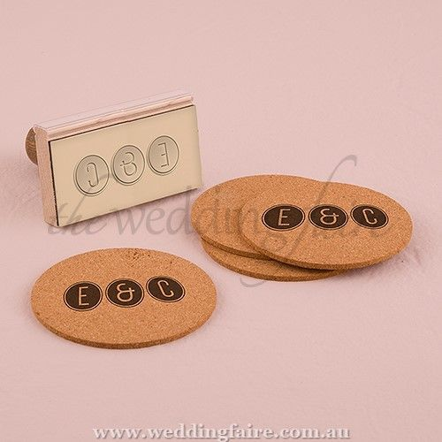 Smart Type Personalised Monogram Rubber Stamp - The Wedding Faire  Design your own personalised stamp to use on everything from your wedding invitations to your favour bags.  5.1cm (W) x 6cm (D) x 7.3cm (H)  Rubber (stamp pad) and wood (handle)  ink pad not included