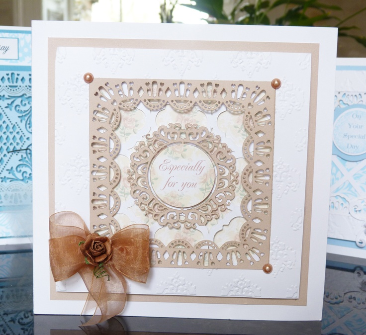 'Square' and 'Circle' - 3 in 1 Tattered Lace Die. Visit tatteredlace.co.uk for available stockists.