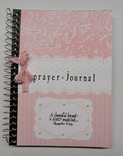 Use a basic spiral bound notebook for a prayer journal, fancy up the outside.
