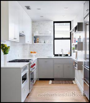- Dưới đây là danh sách 30 mẫu thiết kế nội thất phòng bếp đẹp hiện đại  với gam màu trắng xám chủ đạo (Phần 2) cho bạn tham khảo nếu là mộ...