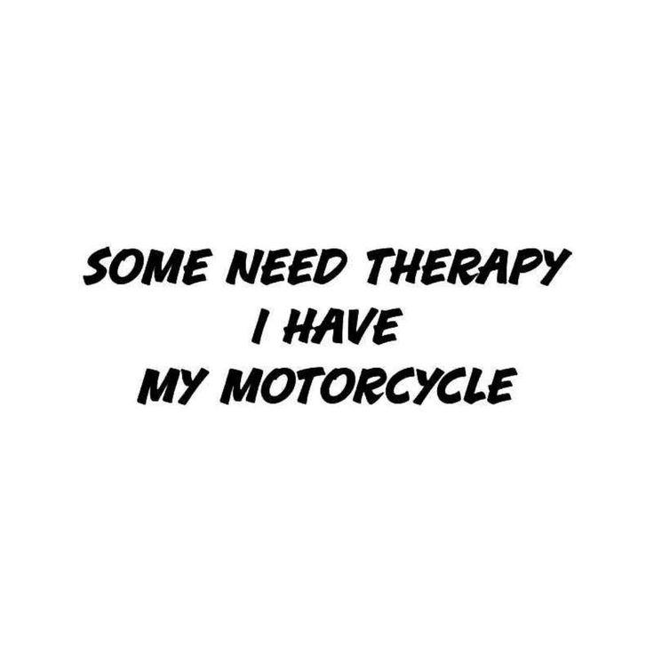 Therapy Motorcycle Quote Vinyl Decal Sticker  BallzBeatz . com