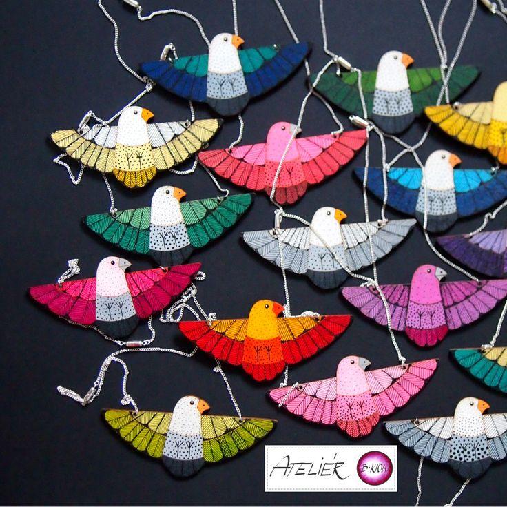 ptačí náhrdelníky