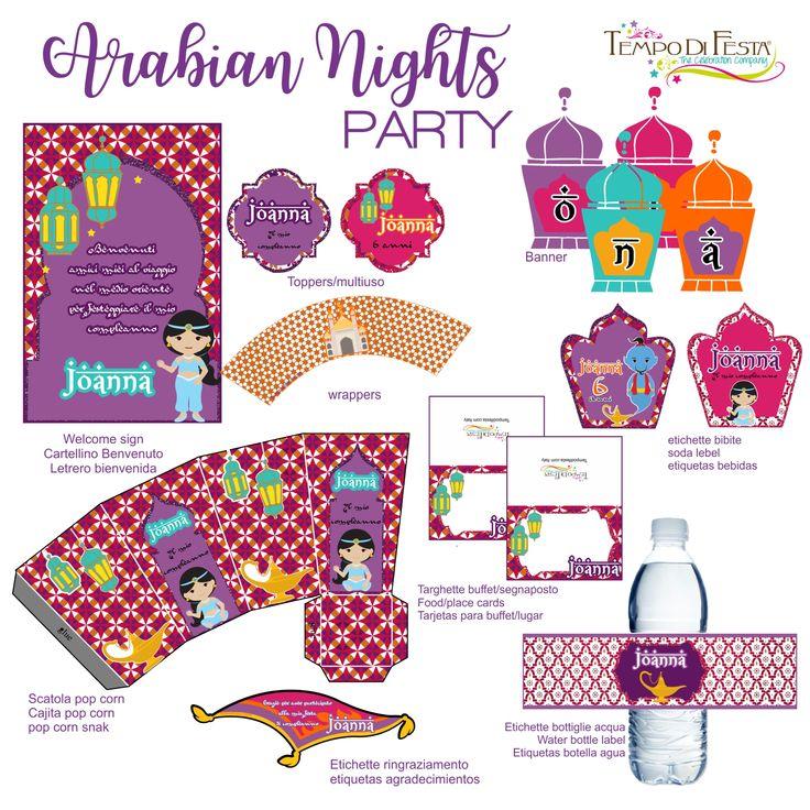 arabian nights printable party by Tempo di festa