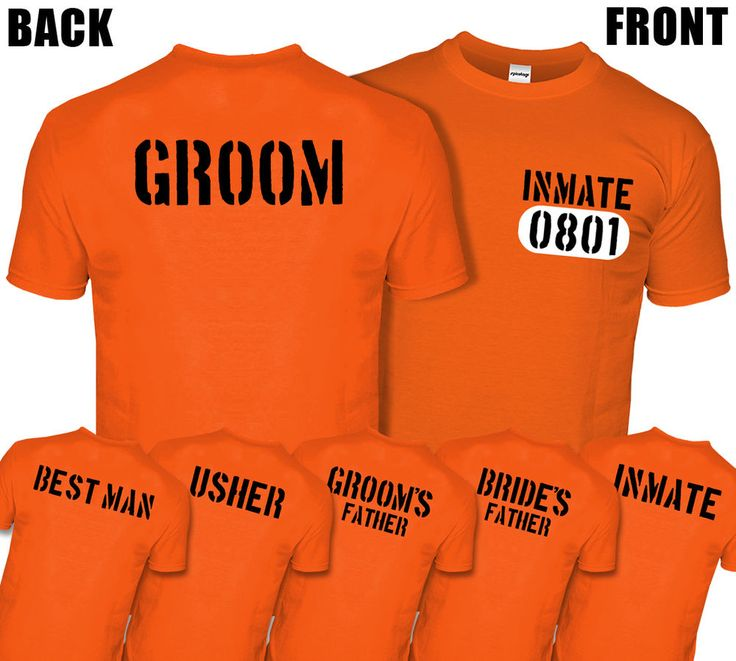 If you're looking for a CRAZY costume idea for a Stag Do then our Inmate Prisoner tops are GUILTY AS CHARGED!  You can choose a Groom, Best Man, Usher, Groom's Father, Bride's Father (Father Of The Bride) & Inmate T-shirt.