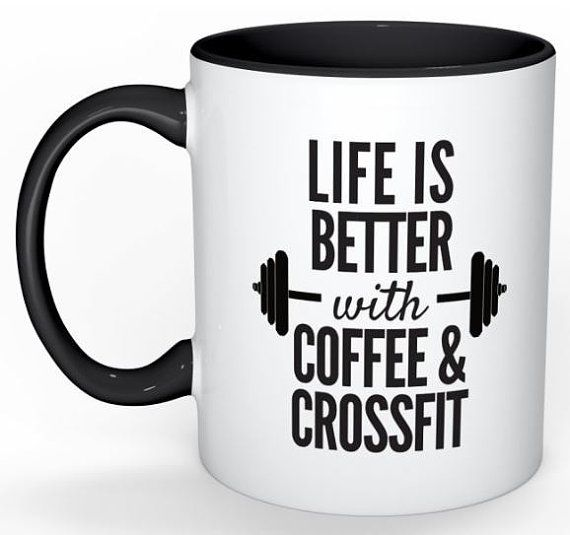 This Coffee & CrossFit Mug Includes:  One 11oz Coffee Mug with One-Sided Printing and Black Detail  *****ORDERING STEPS******  STEP ONE: Add