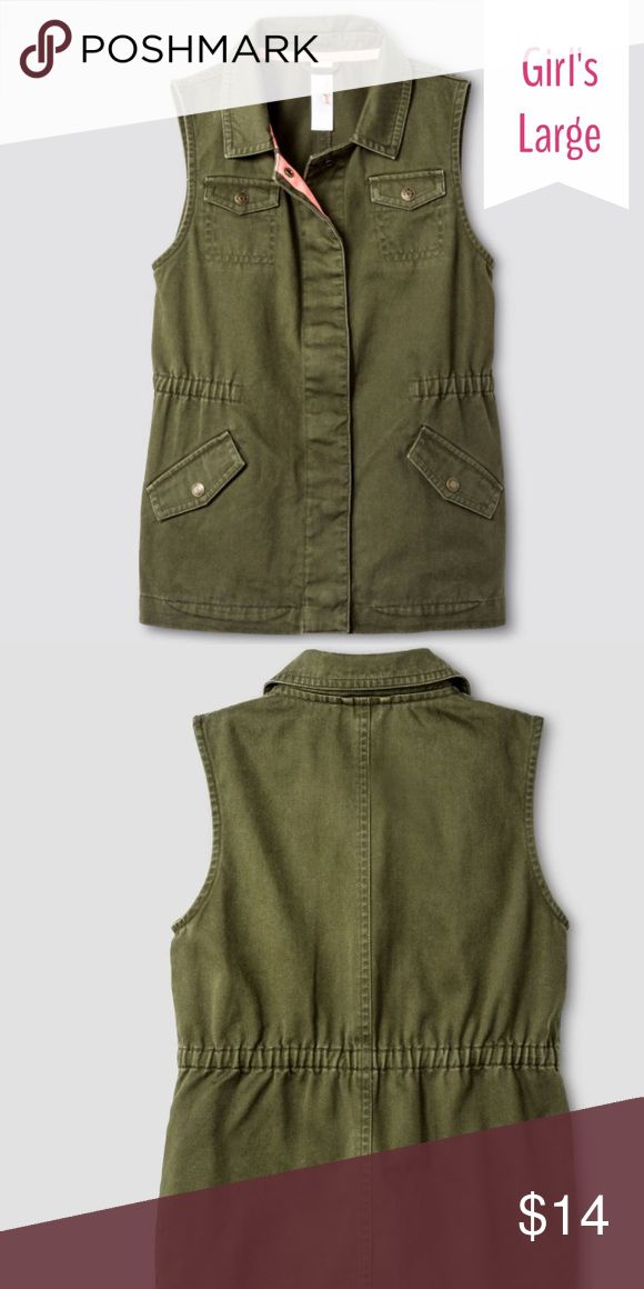 Cat & Jack green vest Cat & Jack green vest. Size Large (12-14) Cat & Jack Jackets & Coats Vests