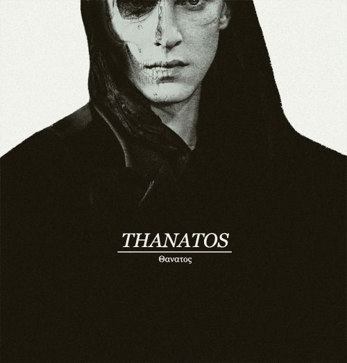 In greek anmythology, Thanatos (Θανατος) was the god and personification of death. His touch was gentle, likened to that of his twin brother Hypnos (the god of sleep).He has been portrayed as a youth carrying a butterfly (symbolizing the soul of the dead) and an inverted torch.