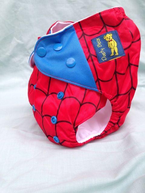 Spiderman Night Time Modern Cloth Nappy