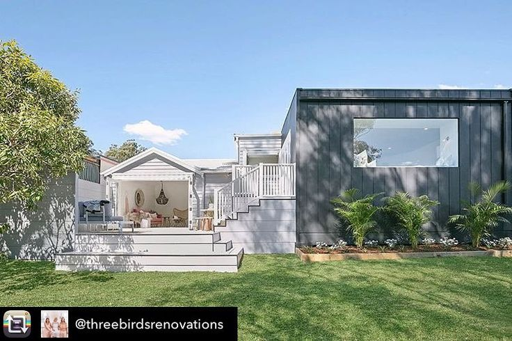 [Thanks Threebirds for the post] Repost from @threebirdsrenovations Back of HOUSE 👊🏼 When the thought of an extension scared the living you know what out of us, and the reality was pretty bloody enjoyable! #whowouldhavethought Thanks @accord_construction_group you nailed this one! (excuse the pun 🔨) #thehillsarealivewithrenofive #realrenos #eightweekreno | Cladding @scyon | awning @luxaflexaus | Decking #hardiedeck